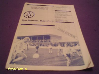 Forfar Athletic V Dunfermline Programme Season 83 - 84