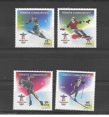 Turkey 2010 Vancouver XXI Olympic Winter Games set Mint Never Hinged **
