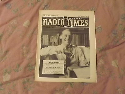 Radio Times - Sept 8 - 14, 1957 Alistair Cooke - 500Th Letter From America Cover
