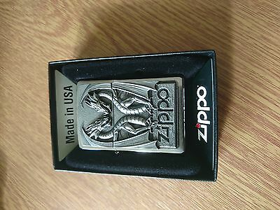 Twin dragon heart ZIppo lighter stunning detail new with box