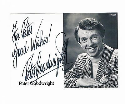 Peter Goodwright Actor  Signed Photograph 6 x 4