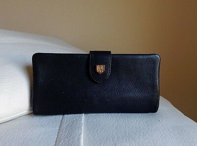 MASSIMO DUTTI 100% Black Leather Clutch Wallet
