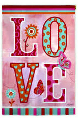#97  Love Valentine's Day Heart Xo Large House Flag 29X43 Banner  *free Shipping