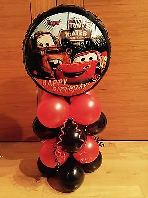 Cars Birthday Party Balloon  Table Display- Air Fill**