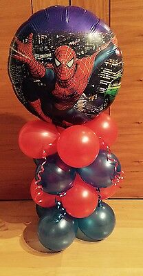 Spiderman Birthday Party Balloon-Table Display--Air Fill*)
