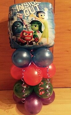Inside Out Birthday Party Balloon Table Display. *Air Fill No Helium..