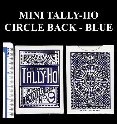Mini Tally-Ho Circle Back Deck Blue (new) Miniature Playing Cards