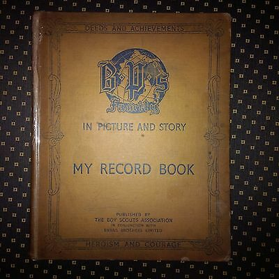 My Record Book In Picture & Story - Baden-Powell 1938 Boy Scouts Book
