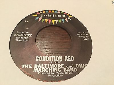 Baltimore And Ohio Marching Band ~ Condition Red~ Jubilee 45~5592