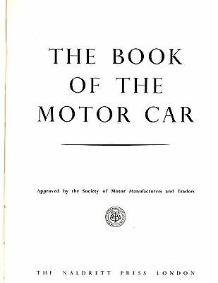 Book,. Motor's,.cars,.classic Cars,.the Book Of The Motor Car,.1952.