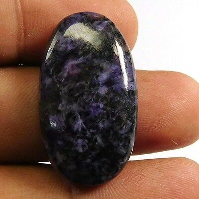 30.45 cts 100% Natural Charoite Oval Shape Loose Cabochon Untreated Gemstone