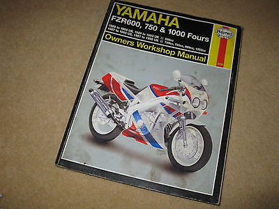 Haynes Yamaha Motorcycle Owners Workshop Manual Book - FZR 600 750 1000 Fours