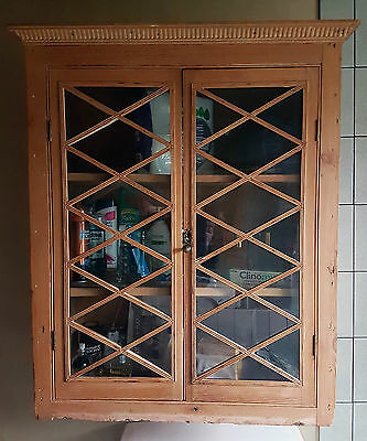 Pine antique display cabinet.