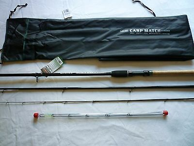 Leeda Carp Match 12ft Feeder Fishing Rod 4pc 11ft / 3.35m 3 tips 4-8lb