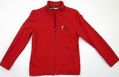 Women's Sz Small Ponte Vedra Golf & Country Club Sawgrass Red Full Zip Jacket