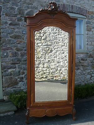 Genuine Antique Armoire Wardrobe LouisV Style Need TLC ideal Shabby Chic Project