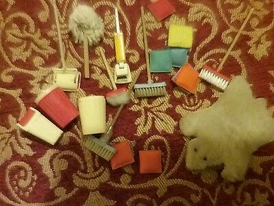 dolls house bundle cleaning vintage Inc lundby swing bin and hoover