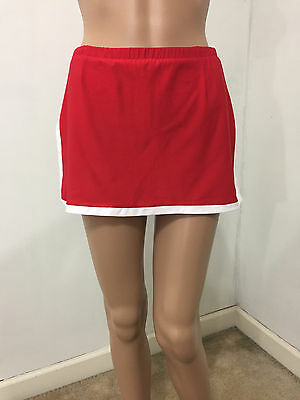 """""""Nike"""" Dry Fit Red Stretch Tennis Skirt Built In Compression Shorts XS EUC!!"""