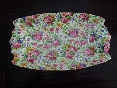 Vintage Royal Winton Chintz Grimwades Summertime Relish Dish 10 Inch