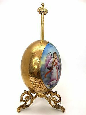 Antique Russian Porcelain Easter Egg with Stand, Circa 1915 (1)