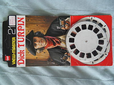 Viewmaster Dick Turpin tv show 3 reels 21 pics opened