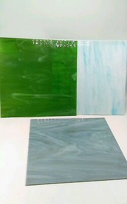 "Lot of 3 12""x 12"" Stained Glass"