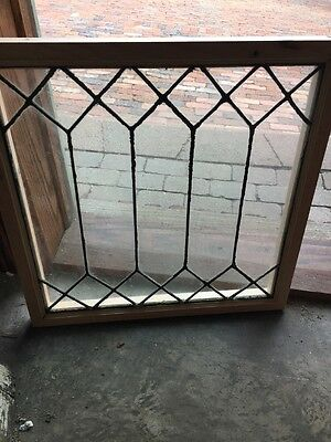Sg 1119 Antique All Leaded Glass Window 22.25 X 22.25