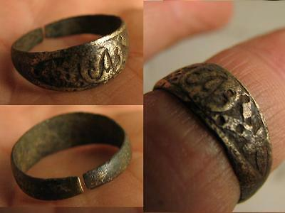 NICE MEDIEVAL RING with ORNAMENT #5251