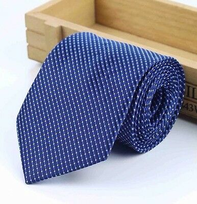 New Silk Blue Polka Dot Tie. Excellent Quality & Reviews. Uk Seller