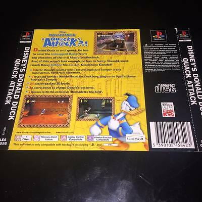 back artwork for donald duck quack attack  ps1 NO GAME DISC INCLUDED