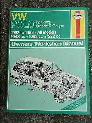 VW Polo Haynes owners workshop manual   FREE POSTAGE