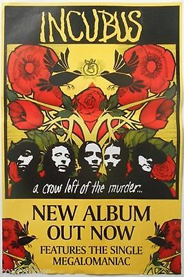 Incubus -A Crow Left Of The Murder- Mega Rare Record Co. Promo Poster