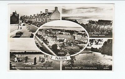 Postcard. Multi View. Nairn. Real Photo.