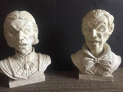 Halloween Animated Talking Heads Bust Props Decorations NOT WORKING WELL-video