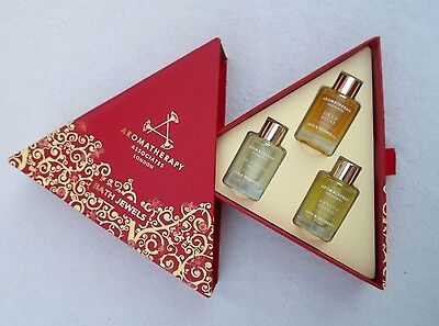 AROMATHERAPY ASSOCIATES LTD LONDON SET OF 3 BATH JEWELS BATH & SHOWER OILS - 3pc