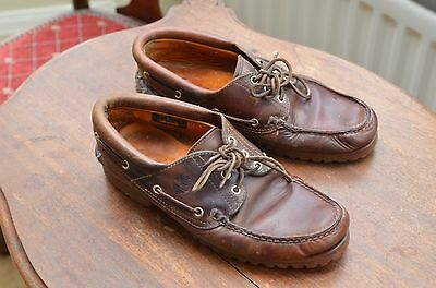 Mens Timberland 3-eye deck shoes, UK size 9