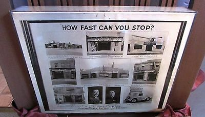 Vintage 1920's AUTOMOBILE SERVICE STATION Photograph Advertisement in Box Frame