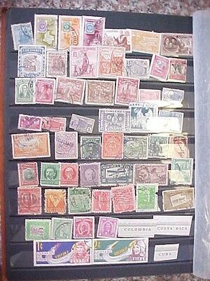 Colombia costa Rica   Stamps  Lot