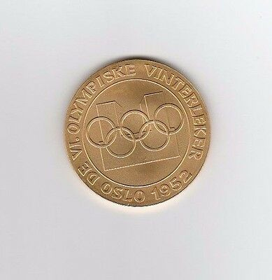 Winner medal   VI.Olympic Winter Games OSLO 1952  -  Gold platet  !!  VERY RARE