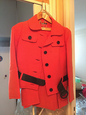tailleur vintage rouge taille 42