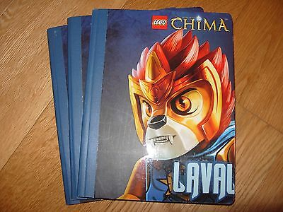 New - Lego Chima Notebooks x 3 - Laval