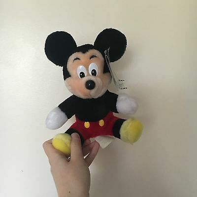 Vintage Mickey Mouse Teddy Official Disney With Tags Disneyland Disney World