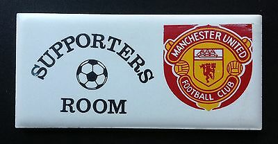 Manchester United 1980's Ceramic Door Room Plaque