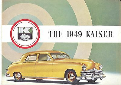 """1949 Kaiser.. Color  Advertising Booklet.. 9"""" X 12"""""""