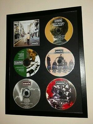 OASIS WHATS THE STORY MORNING GLORY ? cd album & singles display vespa weller