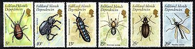 (Ref-9403) Falkland Islands Dependencies 1982  Insects  SG.102/107  Mint (MNH)