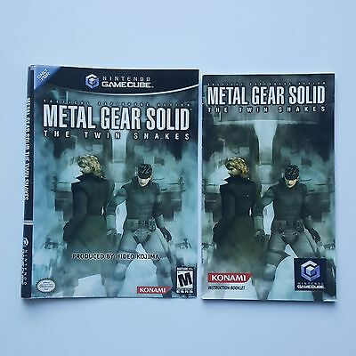 Official Metal Gear Solid The Twin Snakes GameCube Manual + Boxart ONLY