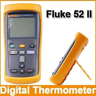 Fluke 52 II Dual Input Digital Thermocouple Type J,K,T And E Thermometer!