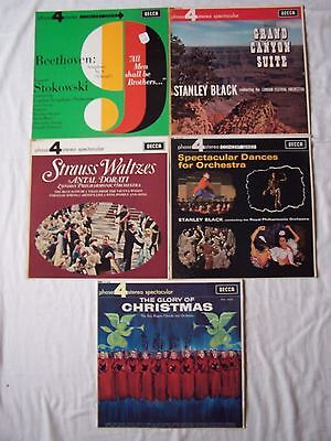 Joblot Of Decca Phase 4 Stereo Spectacular  Albums X 5  ~  All Excellent ~