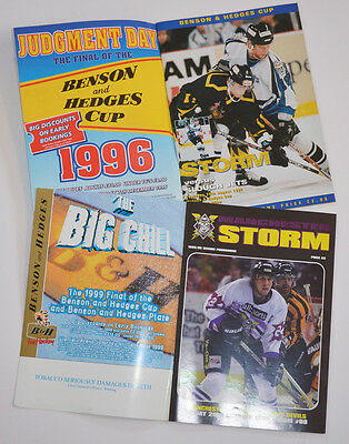 Manchester Storm Ice Hockey 2 Original Progs 90's